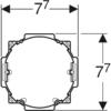 Kép 3/4 - Beépítőkészlet falsík alatti szerelési dobozzal, Geberit DuoFresh modulhoz (244999001)