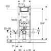 Kép 3/4 - Geberit Duofix fali WC szerelőelem, 112 cm, Sigma 12 cm-es falsík alatti öblítőtartállyal, akadálymentes (111350005)