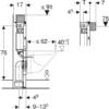 Kép 4/4 - Geberit Duofix fali WC szerelőelem, 82 cm, Omega 12 cm-es falsík alatti öblítőtartállyal (111003001)