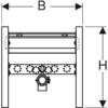 Kép 3/4 - Geberit Duofix kereszttartó elem mosdóhoz, álló csaptelep (111464001)