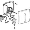 Kép 2/4 - Geberit vizeldevezérlés elektronikus működtetéssel, elemes működtetés, műanyag takarólap, Basic, alpin fehér (115818115)