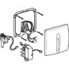 Kép 2/4 - Geberit vizeldevezérlés elektronikus működtetéssel, hálózati üzem, műanyag takarólap, Basic, matt króm (115817465)