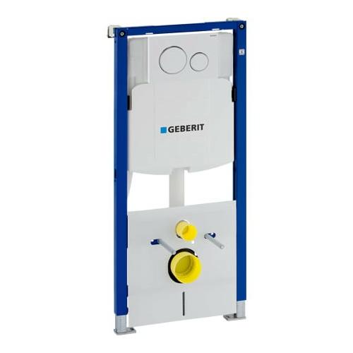 Geberit Duofix fali WC szerelőelem, 112 cm, Sigma 12 cm-es falsík alatti öblítőtartállyal, Sigma20 működtetőlappal 111.301.KJ.5