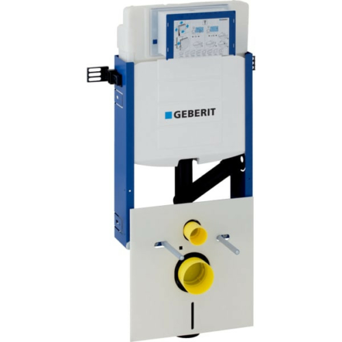 Geberit Kombifix fali WC szerelőelem, 108 cm, Sigma 12 cm-es falsík alatti öblítőtartállyal, csatlakozócsonkkal szagelszíváshoz 110.367.00.5
