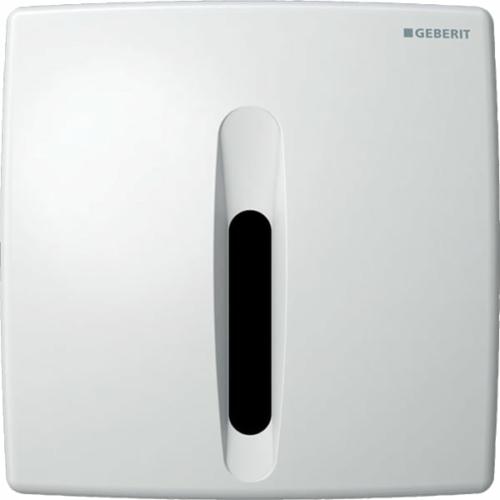 Geberit vizeldevezérlés elektronikus működtetéssel, elemes működtetés, műanyag takarólap, Basic, alpin fehér (115818115)