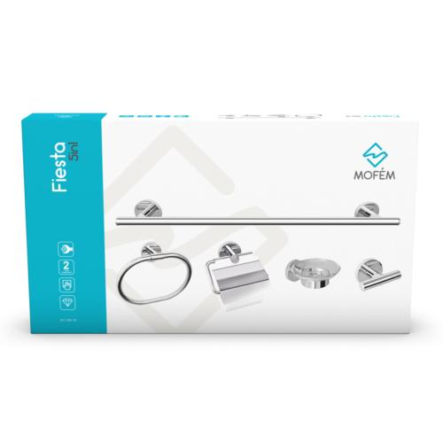 MOFÉM Fiesta 5in1 fürdőszobai kiegészítő szett 501-1081-00